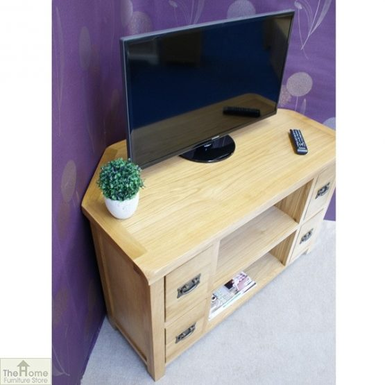 Farmhouse Corner TV Entertainment Unit_3