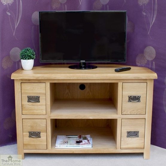 Farmhouse Corner TV Entertainment Unit_1