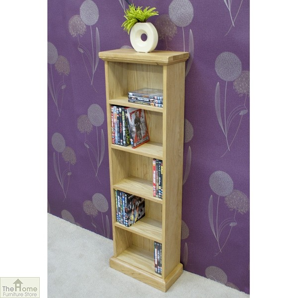 Farmhouse Oak CD DVD Rack_2