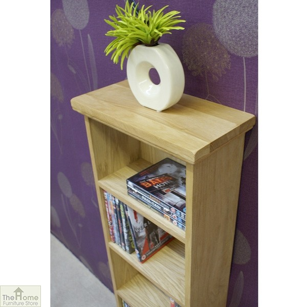 Farmhouse Oak CD DVD Rack_3