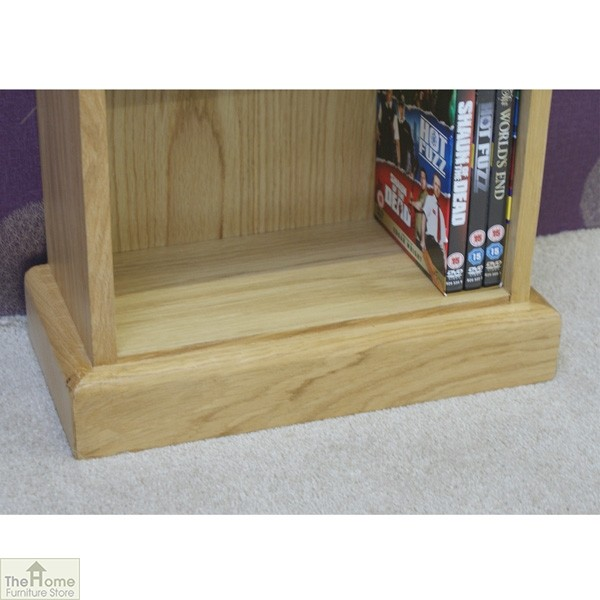 Farmhouse Oak CD DVD Rack_4
