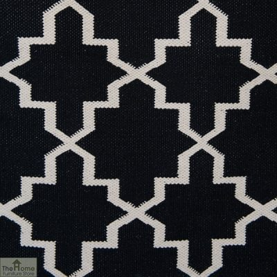 Black White Reversible Patterned Rug_3