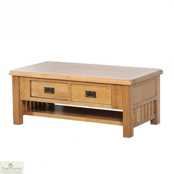 Farmhouse Oak 2 Drawer Coffee Table