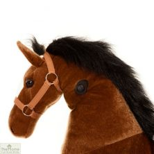 Ride On Horse Toy For Children Brown
