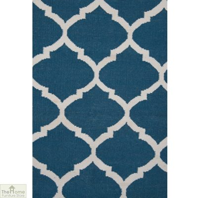 Royal Blue White Reversible Rug_3