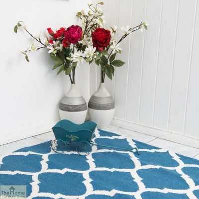 Royal Blue White Reversible Rug_4
