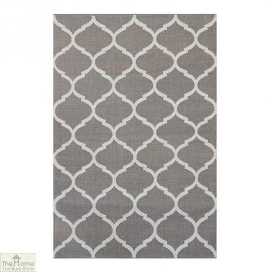 Handwoven Grey Reversible Patterned Rug_1