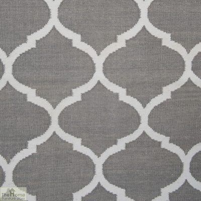 Handwoven Grey Reversible Patterned Rug_2