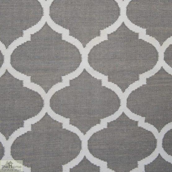 Handwoven Grey Reversible Patterned Rug_2