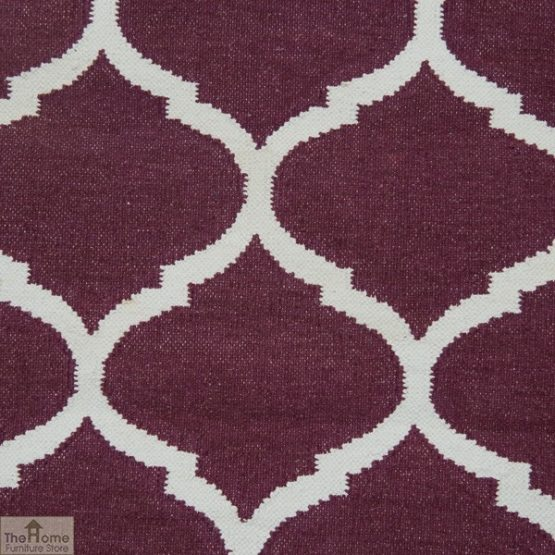Handwoven Cotton Patterned Reversible Rug_2
