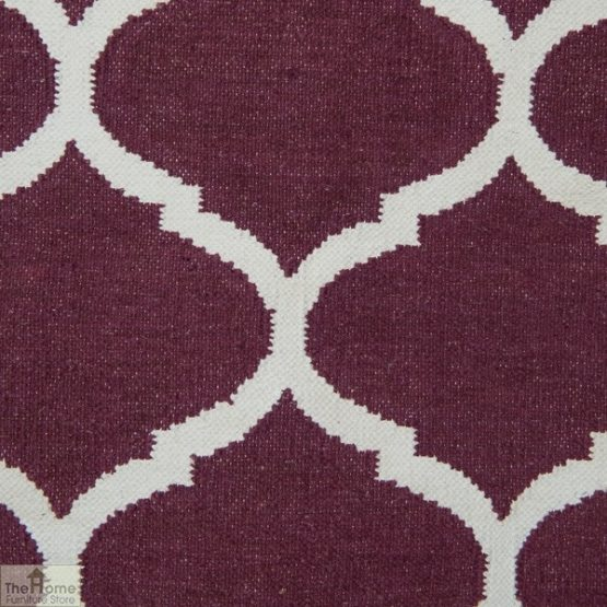 Handwoven Cotton Patterned Reversible Rug_3