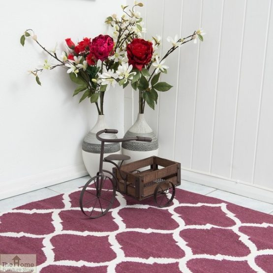 Handwoven Cotton Patterned Reversible Rug_4