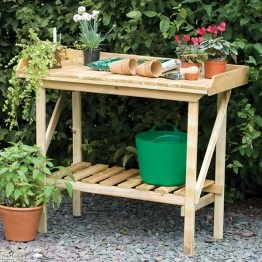 Wooden Potting Bench_1