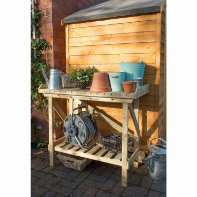 Wooden Potting Bench_2