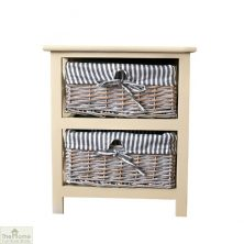 Selsey 2 Drawer Wicker Storage Unit