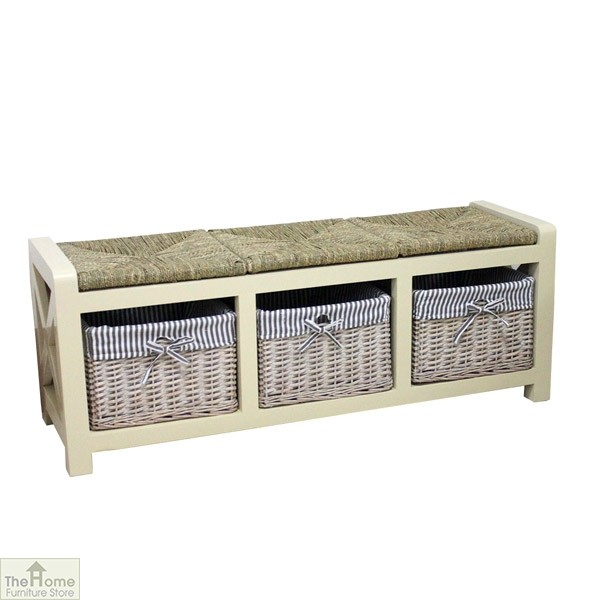 Selsey Wicker 3 Seater Storage Bench