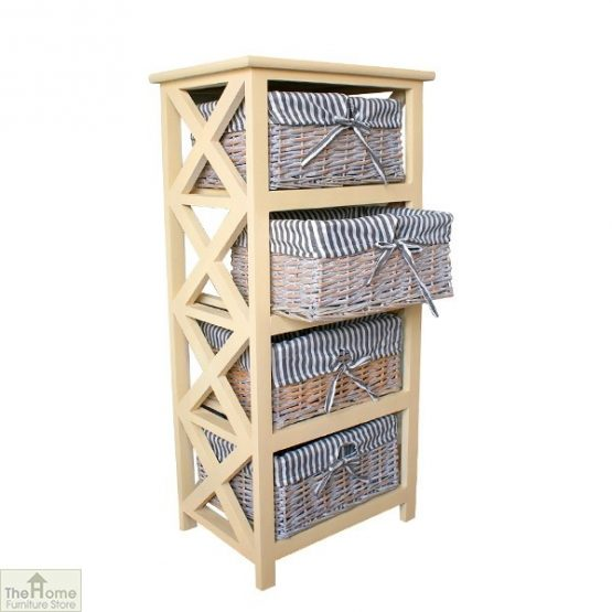 Selsey 4 Drawer Wicker Storage Unit