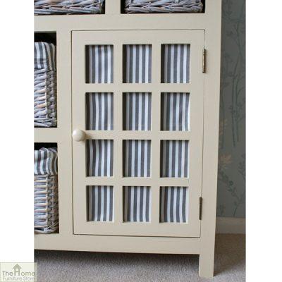 Selsey Wicker 5 Drawer 1 Door Storage Unit_5