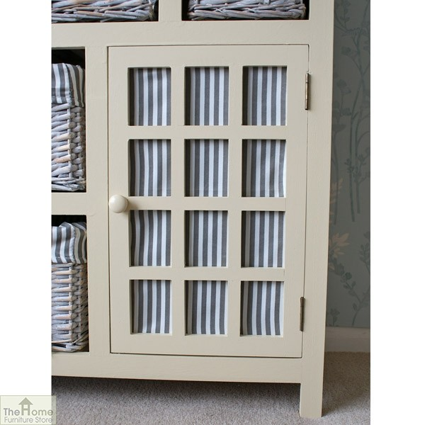 Selsey Wicker 5 Drawer 1 Door Storage Unit_5