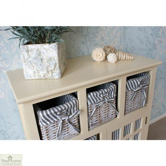 Selsey Wicker 5 Drawer 1 Door Storage Unit_6