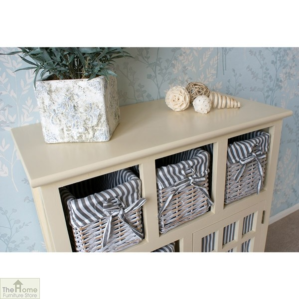 Selsey Wicker 5 Drawer 1 Door Storage Unit_6