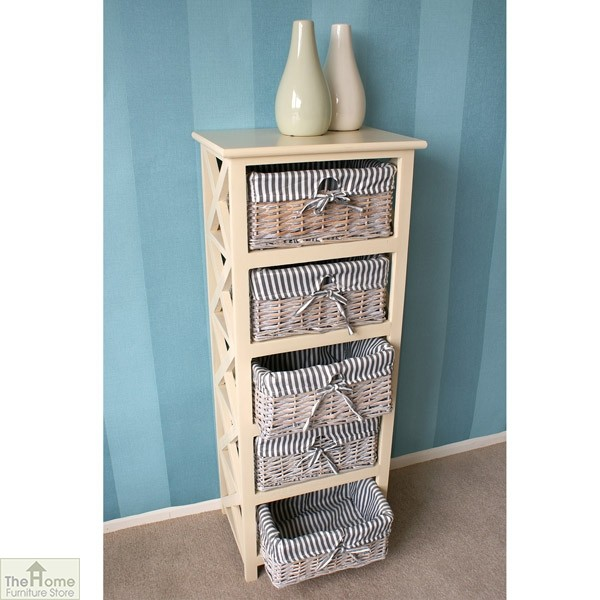 Selsey 5 Drawer Wicker Tallboy Unit_3