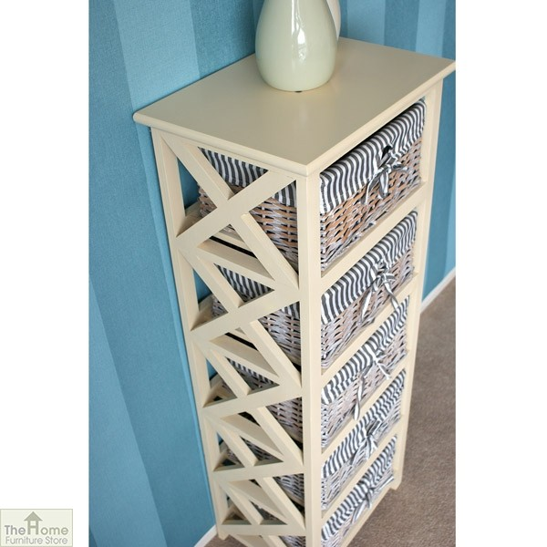 Selsey 5 Drawer Wicker Tallboy Unit_4