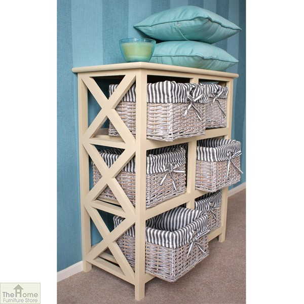 Selsey 6 Drawer Wicker Storage Unit_3