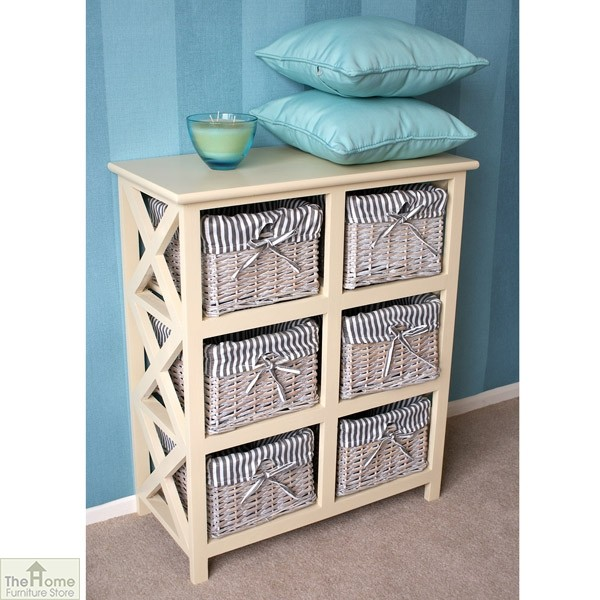 Selsey 6 Drawer Wicker Storage Unit_2