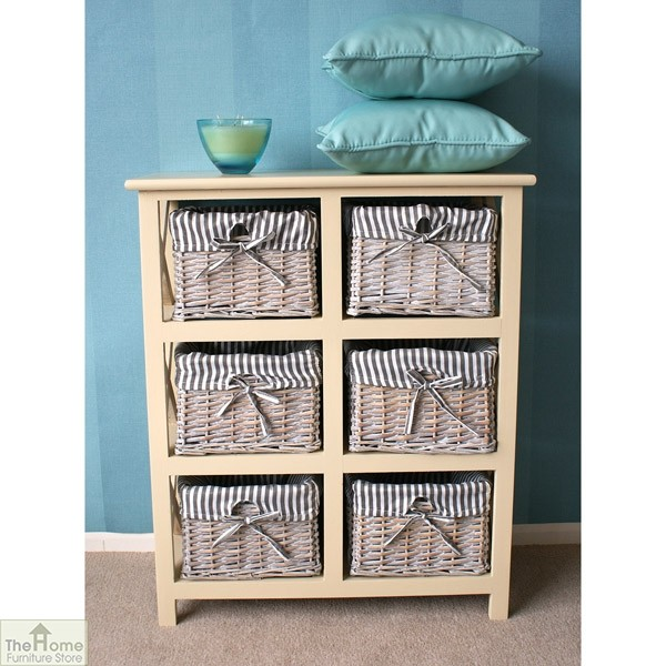 Selsey 6 Drawer Wicker Storage Unit_1