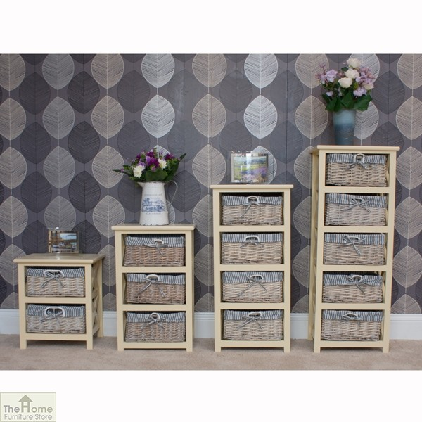 Selsey 5 drawer wicker tallboy unit the home furniture store Home furniture outlet uk