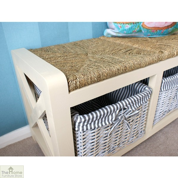 Selsey Wicker 2 Seater Storage Bench_2
