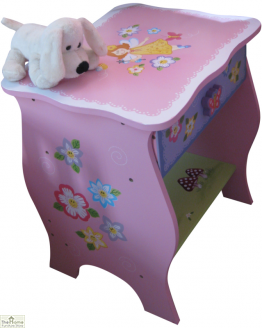 Childrens Pink Fairy Bedside Table_1