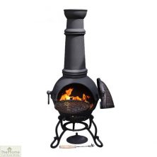 Extra Large Cast Iron Black Chiminea