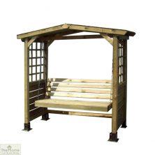 Poseidon Wooden Arbour Swingseat