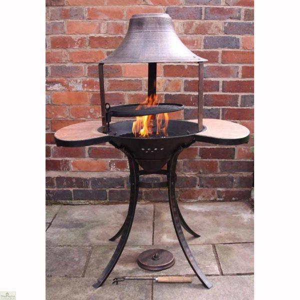 Medium Bronze Fire Bowl BBQ_2
