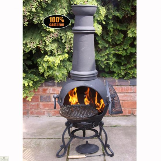 Extra Large Cast Iron Black Chimenea_1