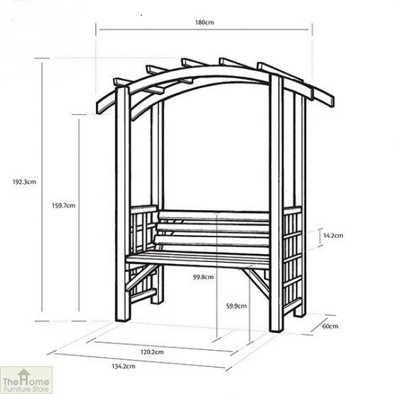 Covington Wooden Garden Arbour_5