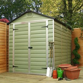 Green 3 x 6 plastic shed the home furniture store - Green plastic garden sheds ...