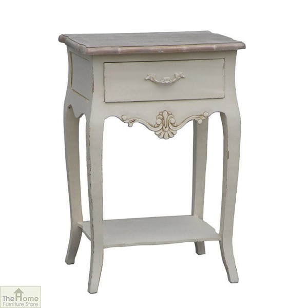 Devon Shabby Chic 1 Drawer Lamp Table