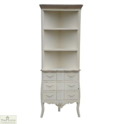 Devon 3 Drawer Corner Shelf Unit