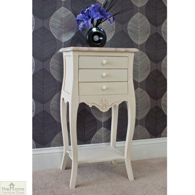 Devon 3 Drawer Bedside Table_2