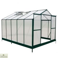 Green Aluminium Framed 12 x 8 Greenhouse