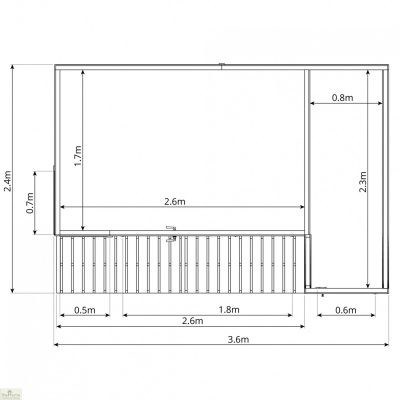 Contemporary Garden Room with Side Shed - Available in 2 Sizes