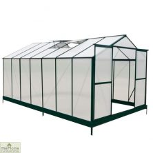 Green Aluminium Framed 14 x 8 Greenhouse