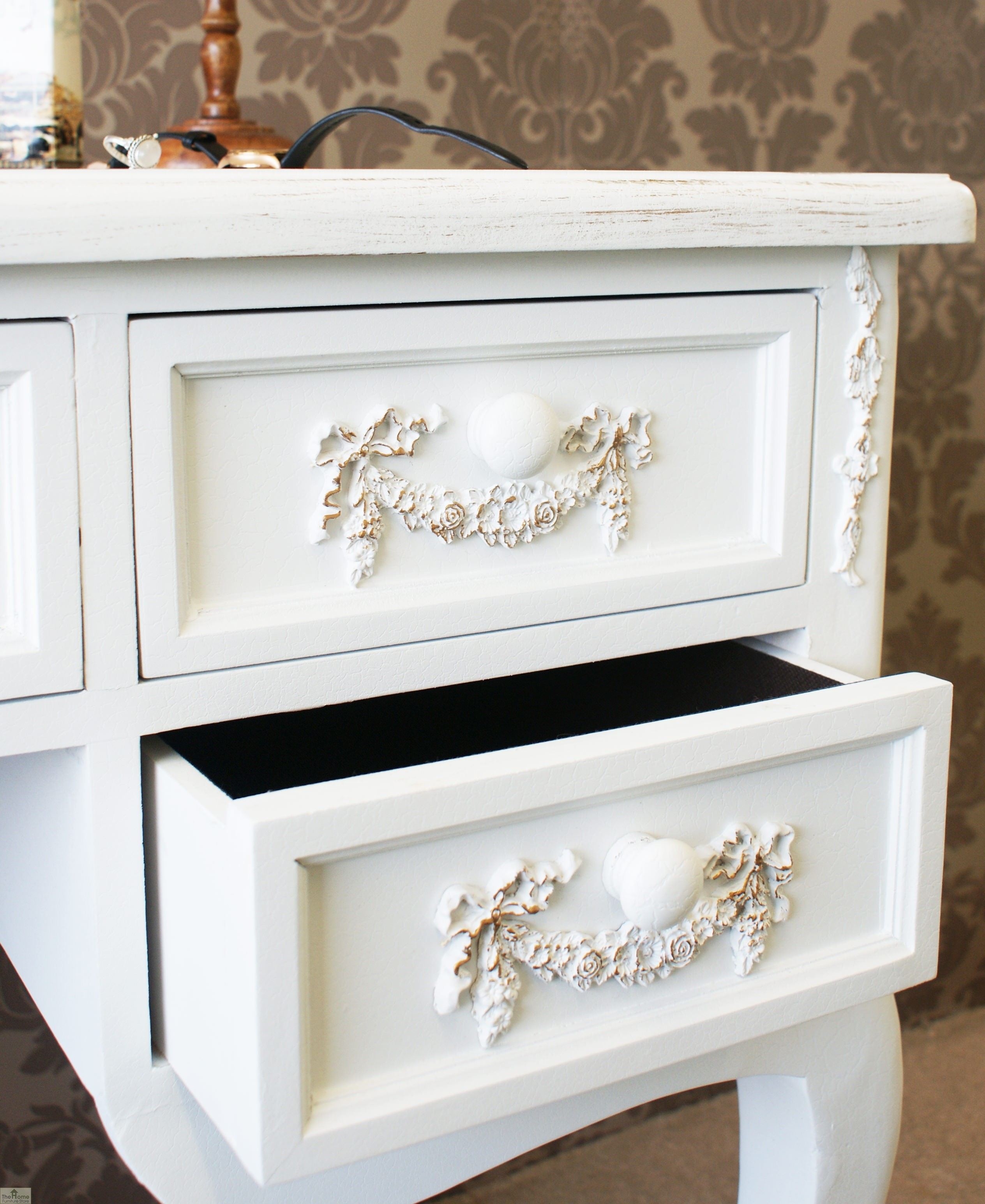 Limoges 5 drawer dressing table the home furniture store for Home furniture dressing table