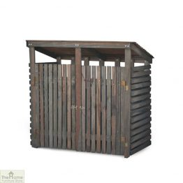 Double Wooden Wheelie Bin Storage