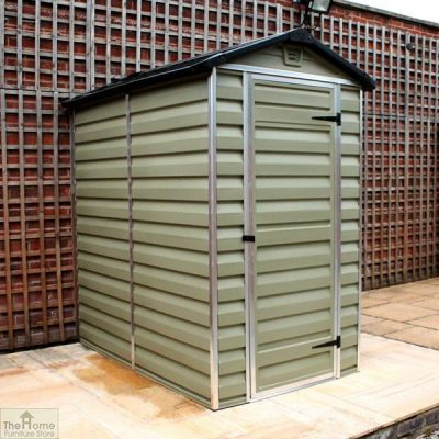 Green 6 x 4 Plastic Shed