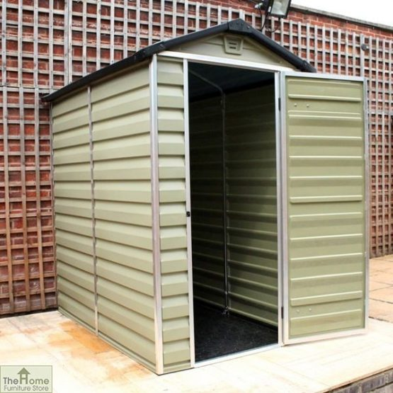 Green 6 x 4 Plastic Shed_2
