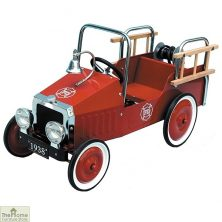 Childrens Pedal Red Fire Engine Ride On